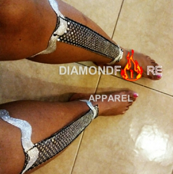 Diamondfire Apparel Accessories - SEQUIN SILVER NEW! Leg Bangle | Leg Décor